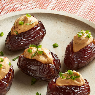 Spicy Jalapeño and Chipotle Cheese Stuffed Medjool Dates.