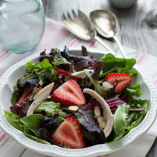 Chicken, Strawberry & Toasted Almond Salad.