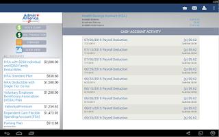 Screenshot of Benefits by Admin America
