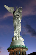 Photo: This statue rocks. It is our Lady of the Apocalypse. Read Revelation and you'll see why she has the crown of twelve stars and wings! And who does she have in chains? That old dragon! Take that Satan!