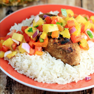 Jerk Chicken with Sweet & Spicy Pineapple Salsa