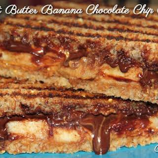 Peanut Butter Banana Chocolate Chip Panini.