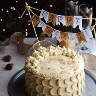 Chestnut Cake + Eggnog Buttercream Frosting