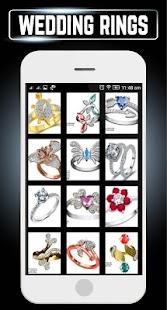 Engagement Ring Set Diamond Gold Wedding Jewellery - náhled