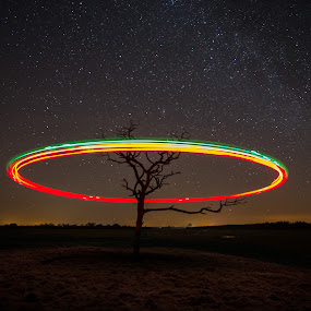 Buzzing round & round by F Kelly - Abstract Light Painting ( ireland, little brosna, lusmagh, callows, offaly )