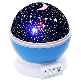 Proiector rotativ cu stele si luna - cu functie de rotatie la 360 grade