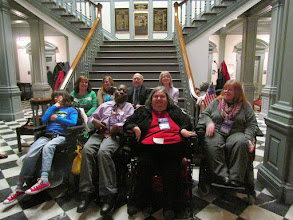 Photo: Some of the advocates gathered for Disability Day at Legislative Hall on 3.25.15. Front row L-R: Brigitte Hancharick, Emmanuel Jenkins, Jamie Wolfe, Daniese McMullin-Powell. Back Row L-R: Terri Hancharick, Wendy Strauss, Brian Hartman, Esq. and Pat Maichle.