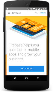 Firebase mobile app: console access - náhled
