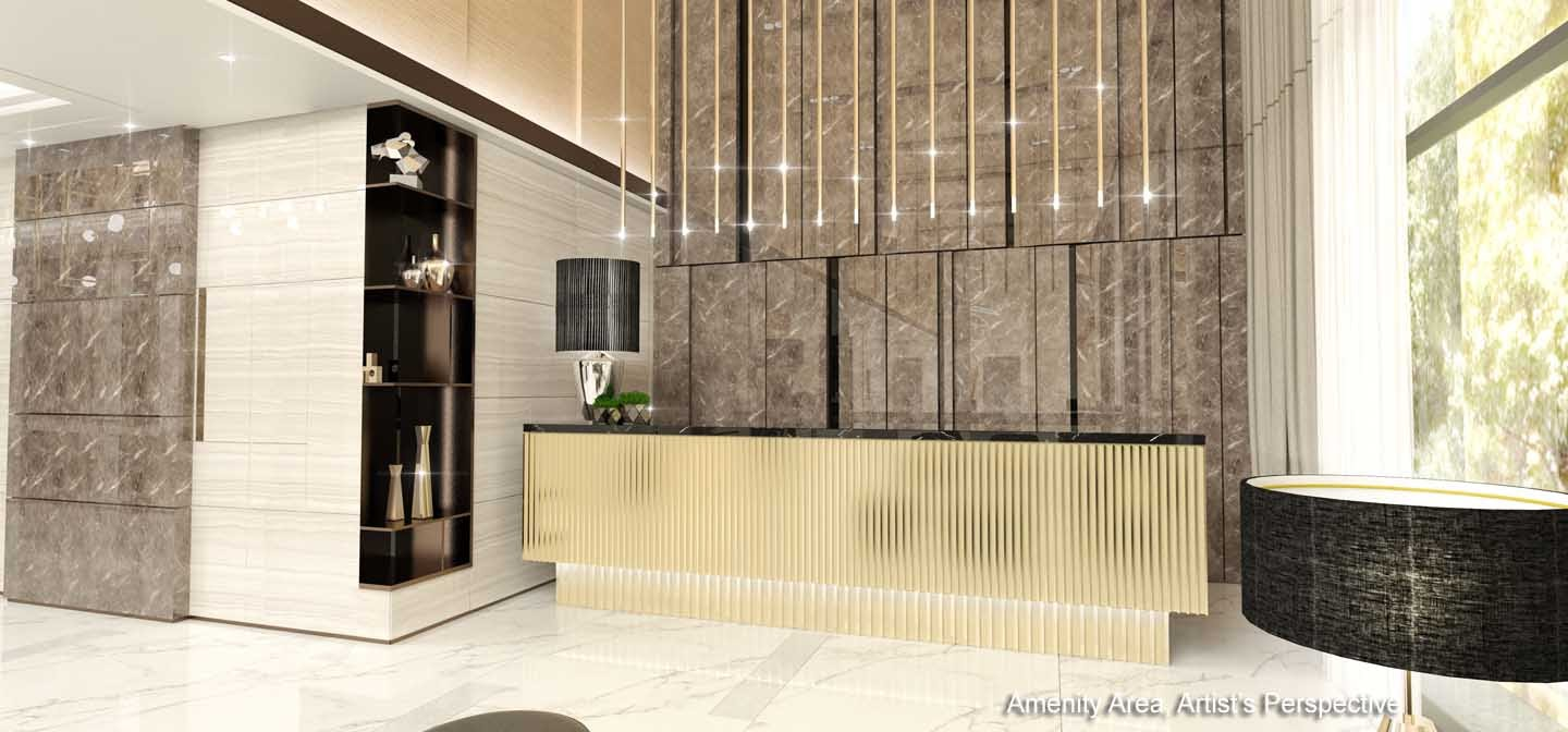 Gold Residences, Paranaque reception lobby