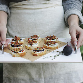 Fig, Bacon, Goat Cheese & Thyme Crostini