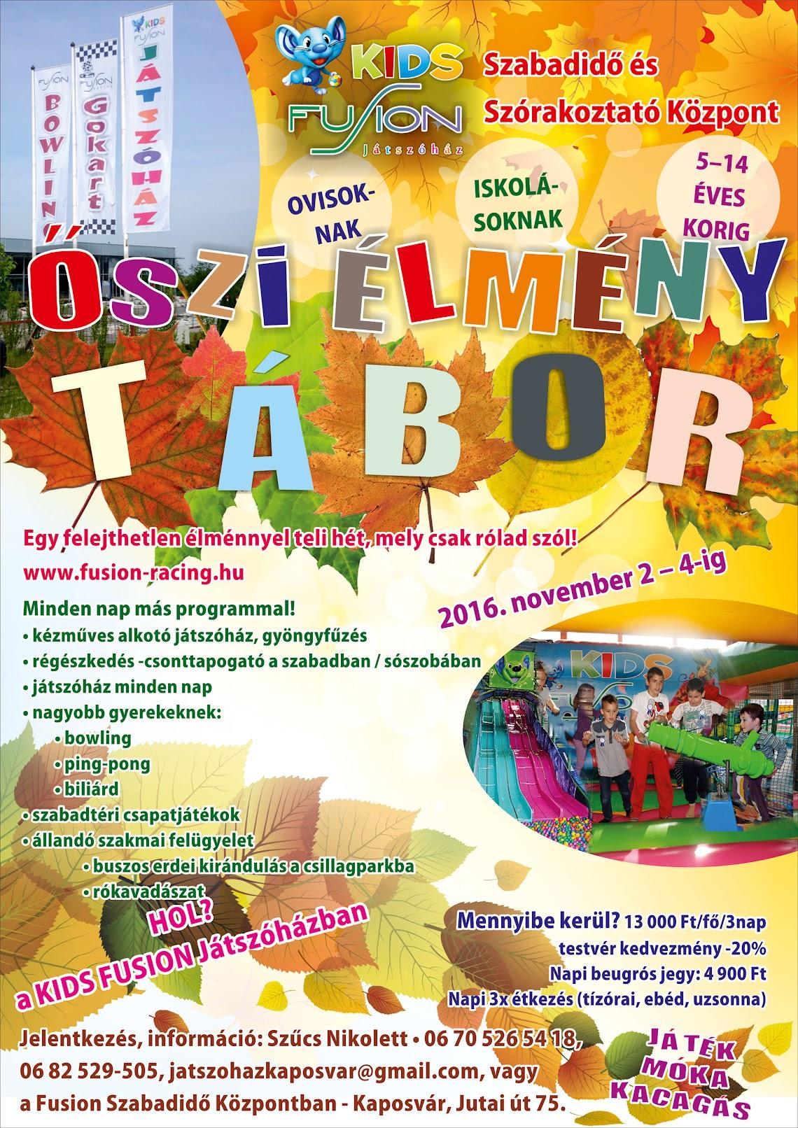 Őszi élménytábor Kaposvár 2016. november 2-4