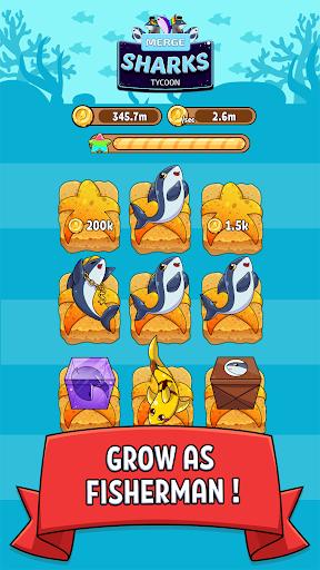 MergeShark - Kawaii Idle Evolution Clicker Game  screenshots 2