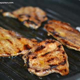 Grilled Chicken With Lime Butter.