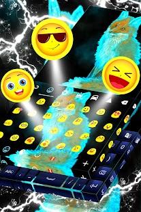 Téma divoké neonové klávesnice - náhled