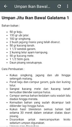 Resep Jitu Umpan Galatama 8.8 screenshots 4