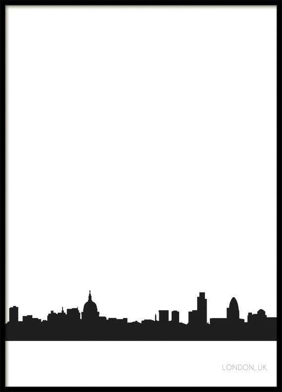 London City Skyline, Poster