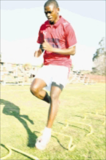 NEW HOME: Nippy Thabiso Hlalele has joined Jomo Cosmos from Black Leopards. Pic. Mohau Mofokeng. 02/09/08. © Sowetan.
