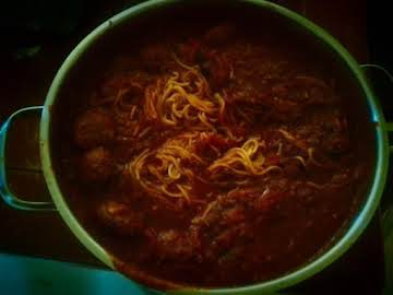 Homemade Meatballs and Spaghetti