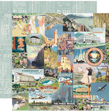 Simple Stories Simple Vintage Traveler Double-Sided Cardstock 12X12 - WanerUTGÅE
