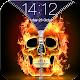 Burning Skull Zipper Lock