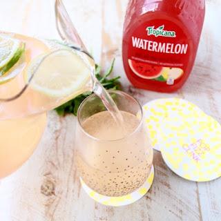 Watermelon Mint Champagne Punch.