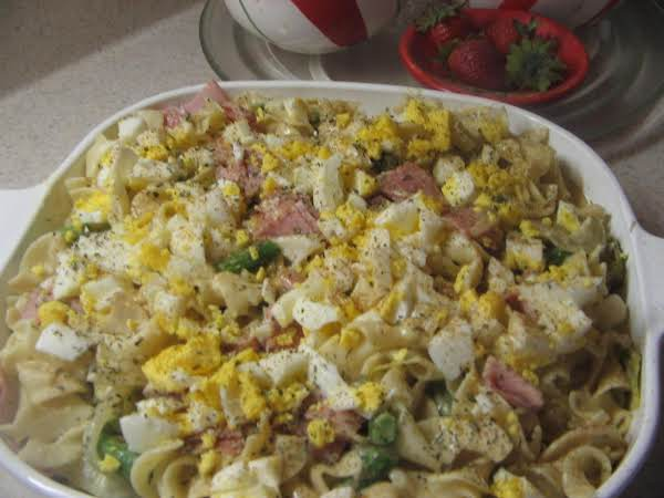 Noodle, Asparagus And Ham Casserole Recipe