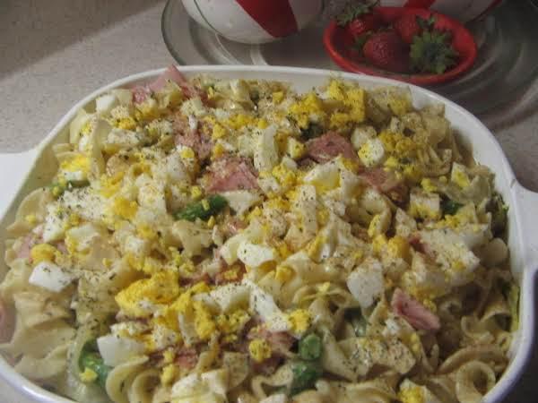 Noodle, Asparagus And Ham Casserole