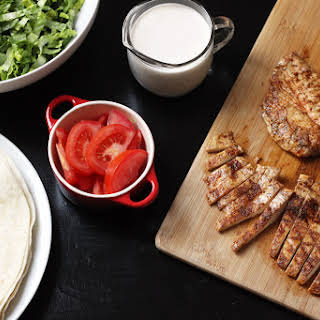 Buffalo Chicken Wraps with Blue Cheese Dressing.