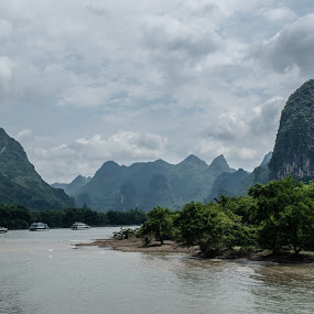 Guilin by Pilar Gonzalez - Landscapes Mountains & Hills ( mountains, orient, li river, guilin, china,  )