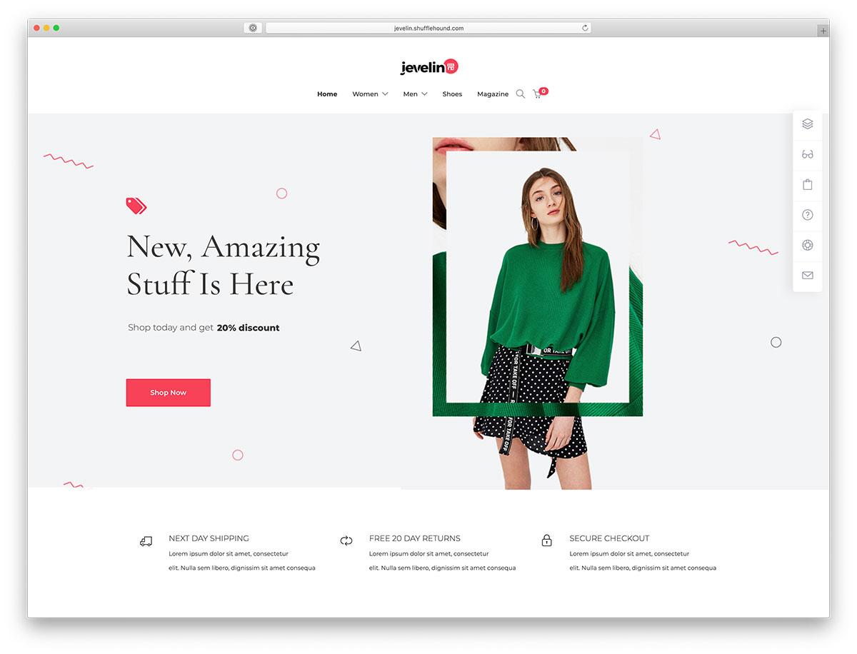 jevelin - fashion ecommerce wordpress themes
