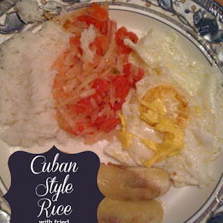 Cuban Style Rice with Fried Eggs and Bananas