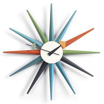 SUNBURST CLOCK   DESIGNER REPRODUCTION