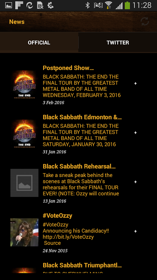 The Official Ozzy Osbourne App- screenshot