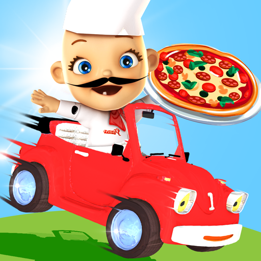 Racing Pizza Delivery Baby Boy Icon
