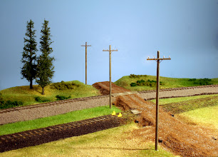 Photo: Disused portion of spur at Marshall's Siding. Telephone poles are from MountainView Depot.
