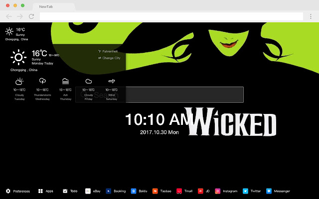 wicked HD New Tabs Popular Styles Themes