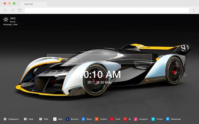 Concept car popular HD car new tab page theme