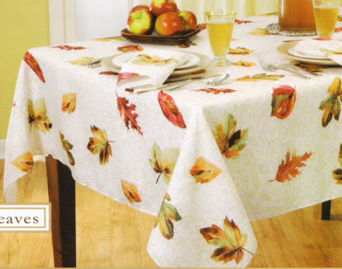 70 Inches, Gold Color Round Autumn Scroll Damask Tablecloth