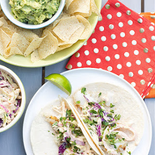 Grilled Fish Tacos with Creamy Chipotle Slaw.