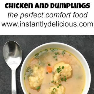 Instant Pot Chicken and Dumplings.