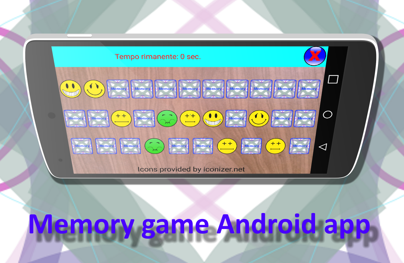 Memory game- screenshot