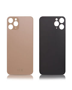 iPhone 11 Pro Back glass without logo High Quality Gold