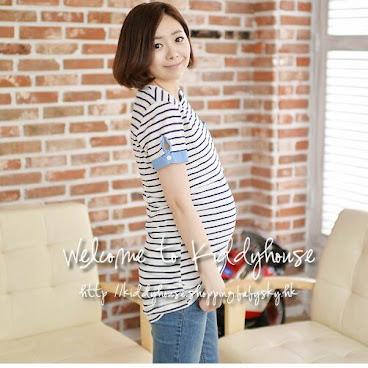 👶現貨包郵👶優質簡潔孕婦裝哺乳衣/餵奶衫裙MF153