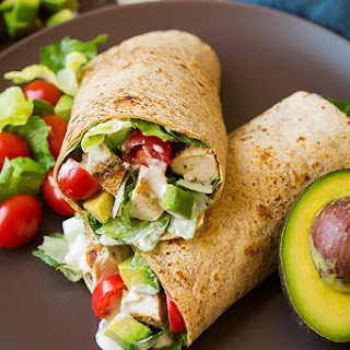 Chicken Avocado Caesar Salad Wrap