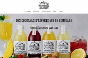 création de site internet réalisée par Fine Cocktail