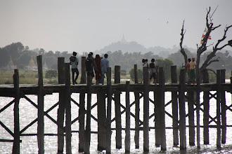 Photo: Year 2 Day 55 - Tourists on U Bein's Bridge