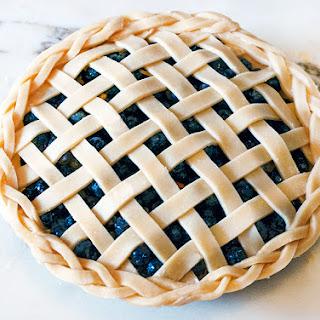 Lattice-Top Blueberry Pie