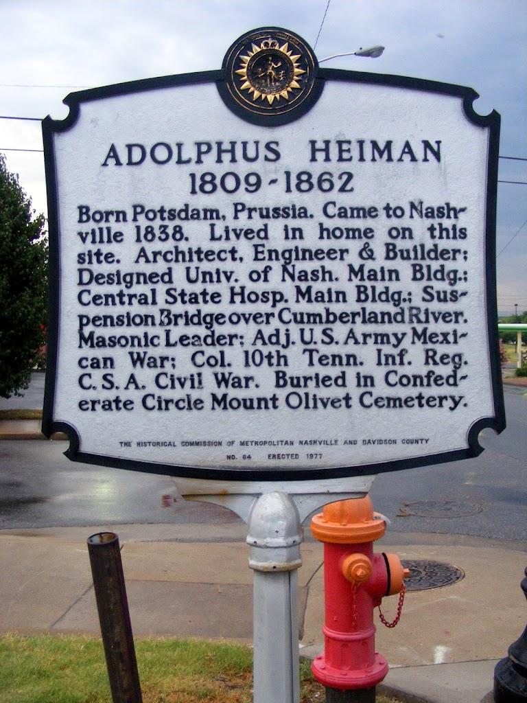 Read the Plaque - Adolphus Heiman