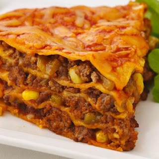 Healthified Beef Enchilada Pie.