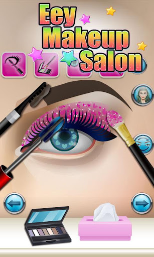 Eyes Makeup Salon - kids games screenshot 2